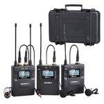 Петличный радиомикрофон CoMica CVM-WM300A [ 2TX+RX ] UHF 96-channels