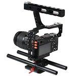 Commlite CS-V5 Mirrorless Camera Rod Rig Camera Video Stabalizer Video Cage Kit