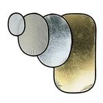 Отражатель Manfrotto 185x120см серебро/белый овальный