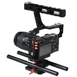 Commlite CS-V5 Mirrorless Camera Rod Rig Camera Video Stabalizer Video Cage Kit